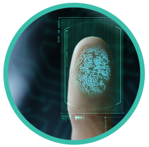 Photo of fingerprint being analyzed